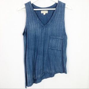 Cloth & Stone asymmetrical sleeveless tank top